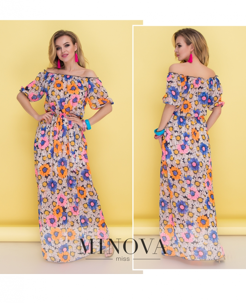 Платье №036-цветы