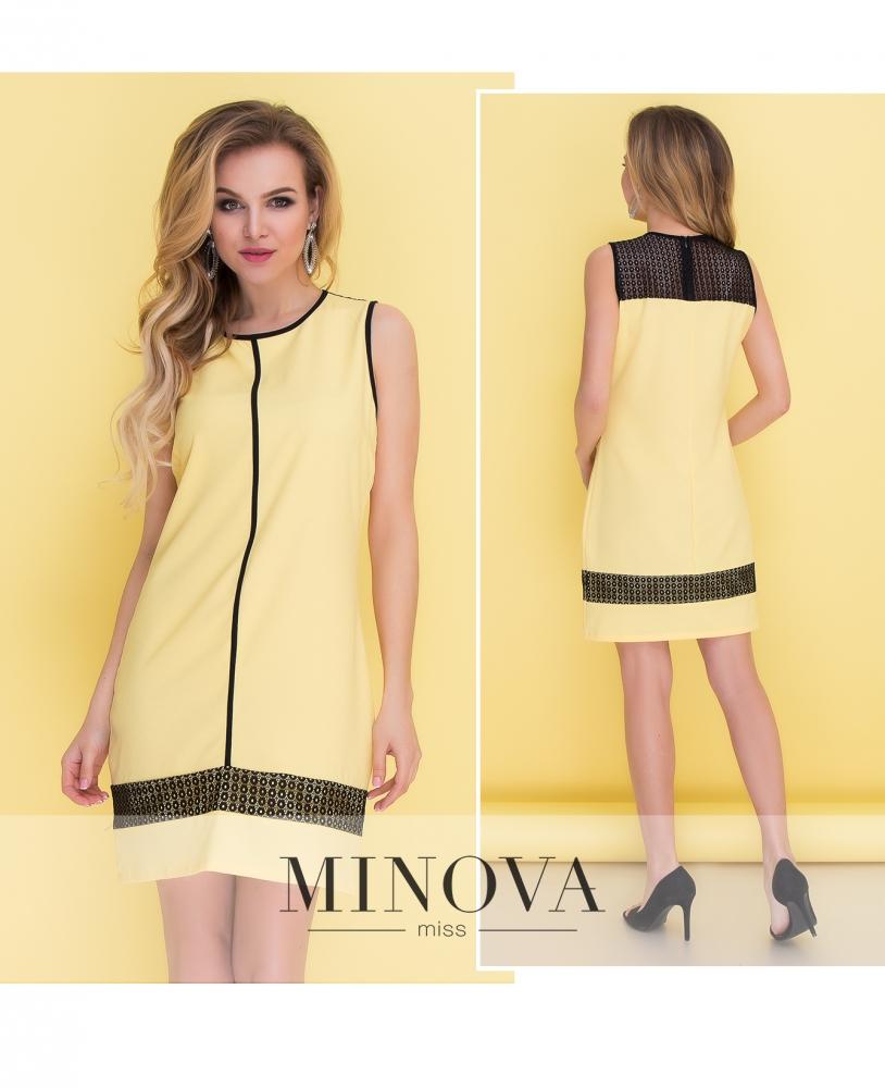 Платье №096-желтый