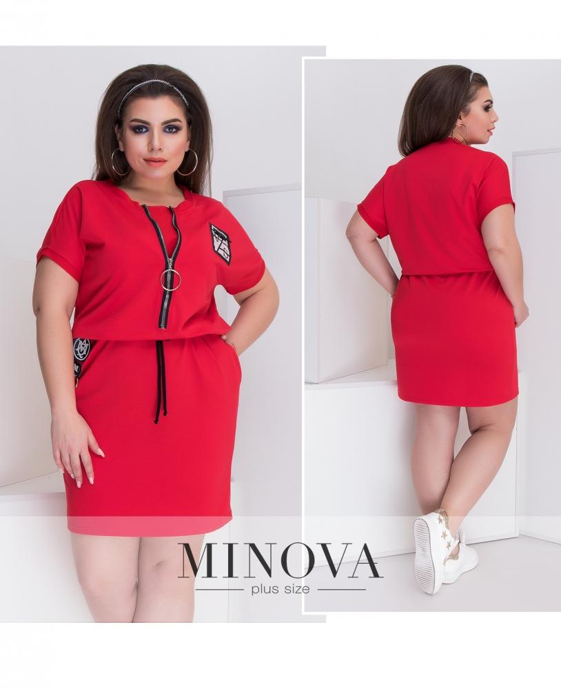 Платье №048-красный