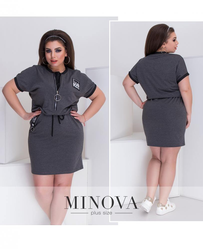 Платье №048-серый
