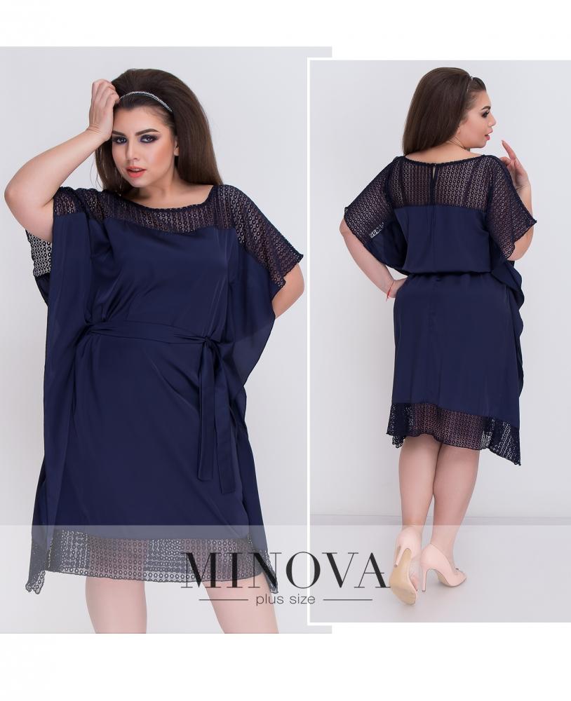 Платье №346-темно-синий