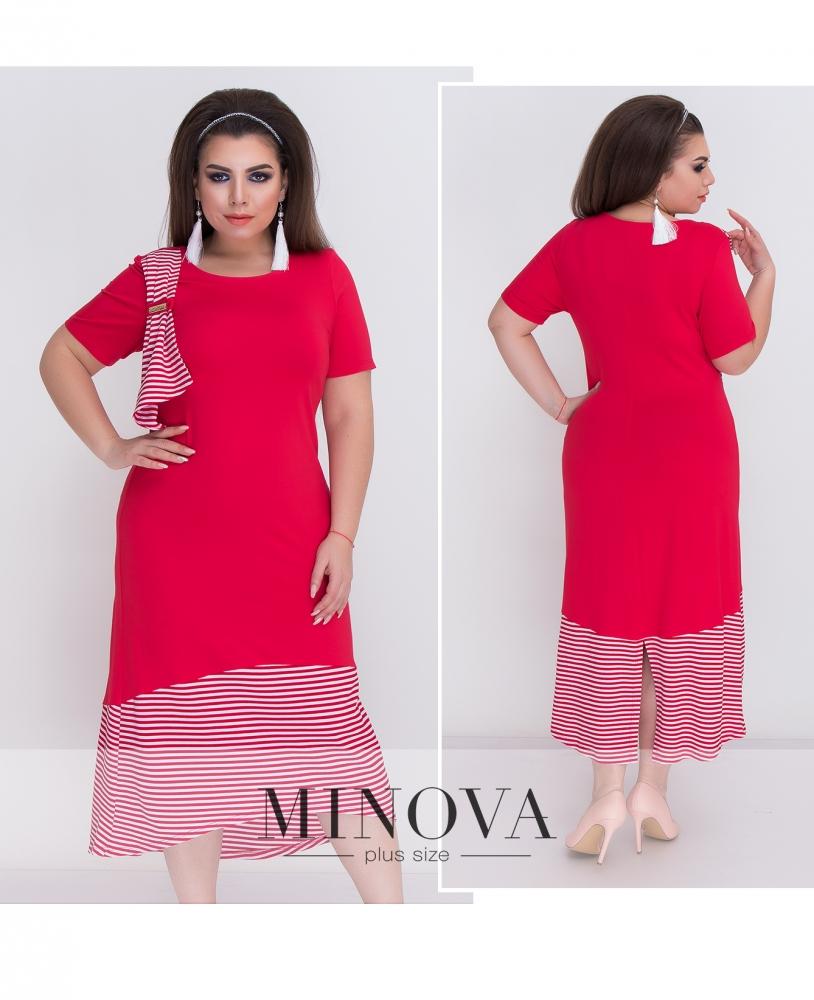 Платье №370-1-красный