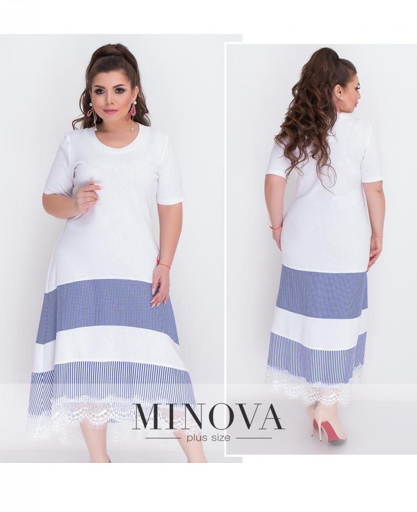Платье №369-синий