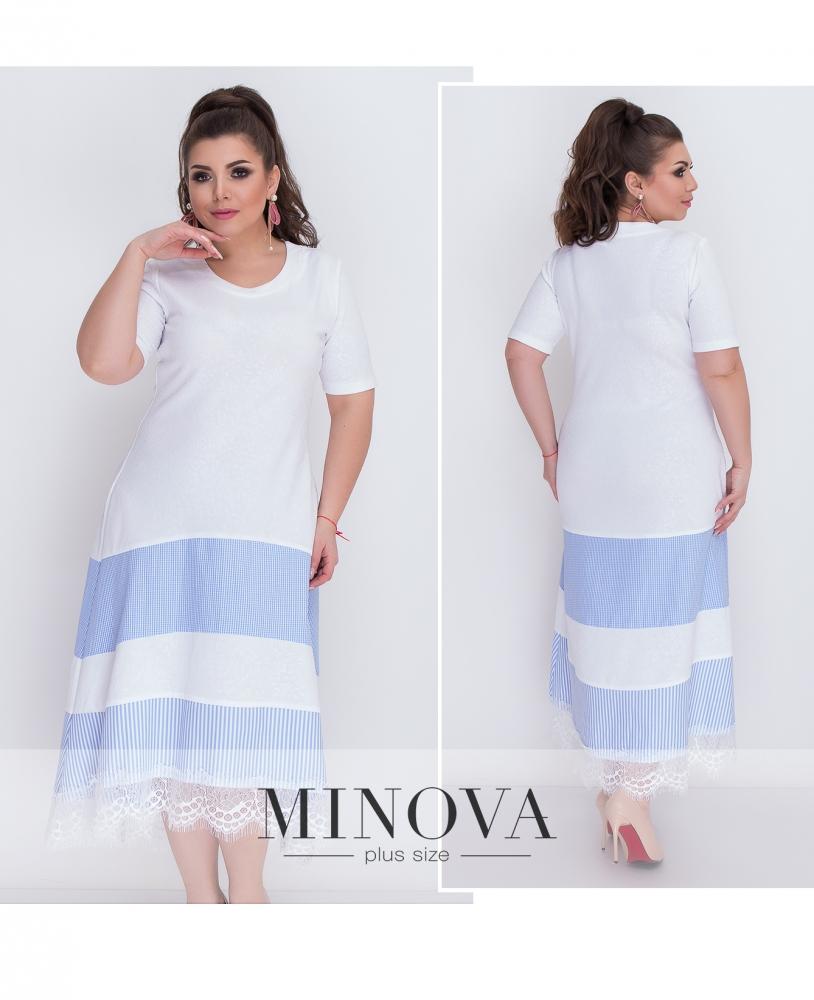 Платье №369-голубой