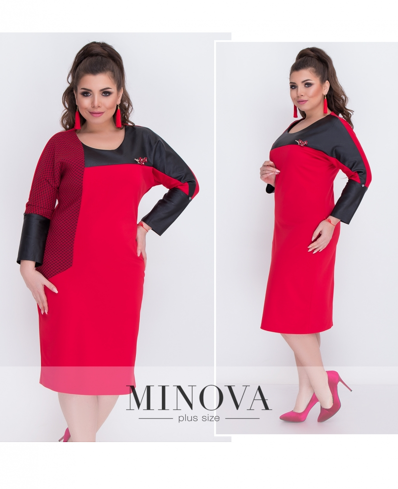 Платье №00035-красный (sale)