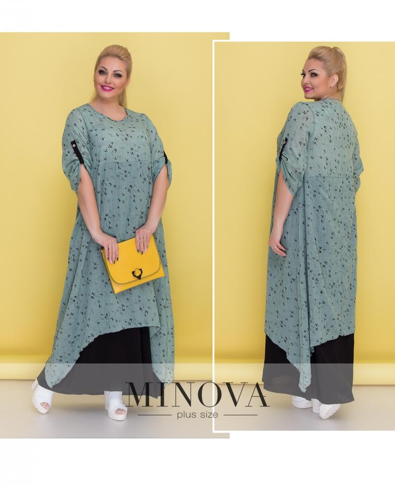 Платье №1373-ментол