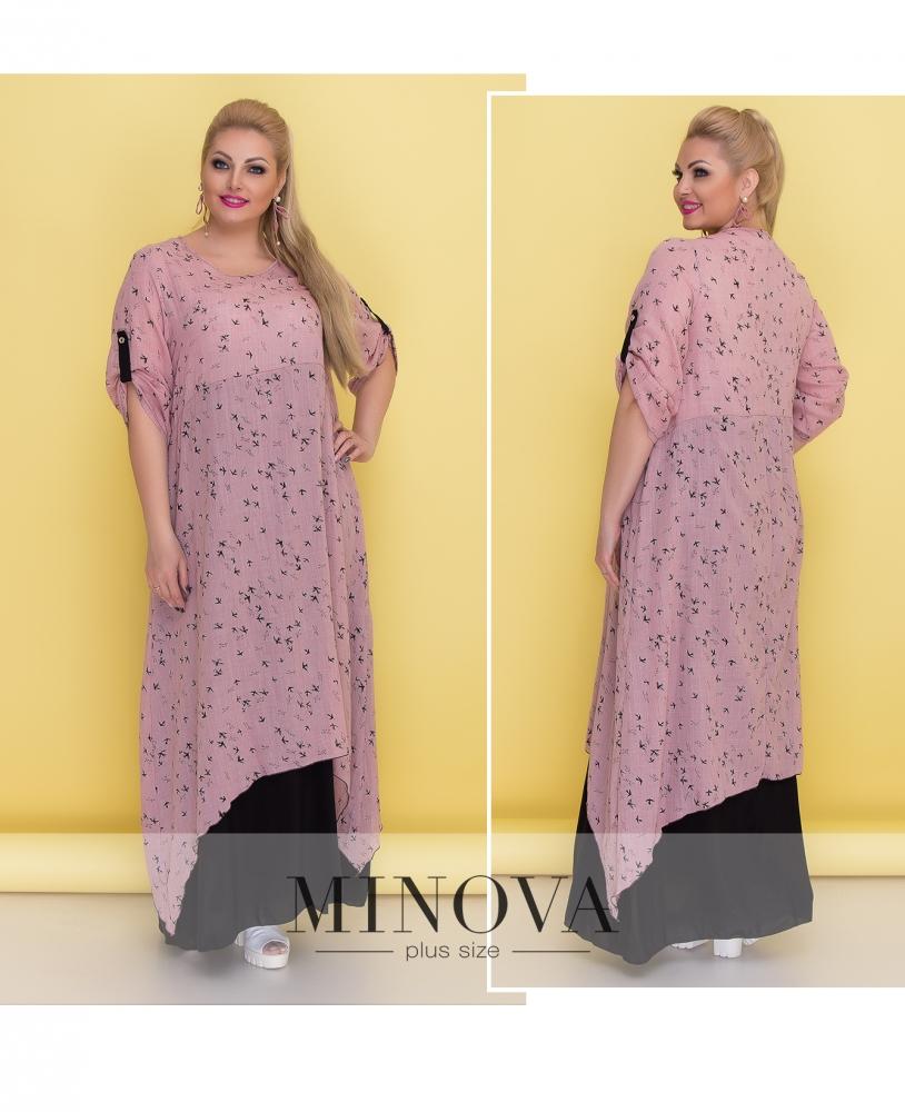 Платье №1373-пудра