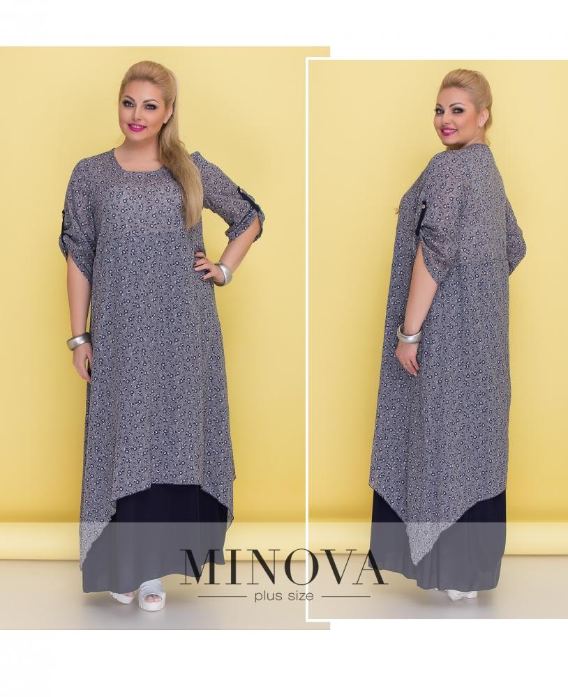 Платье №1372-серый