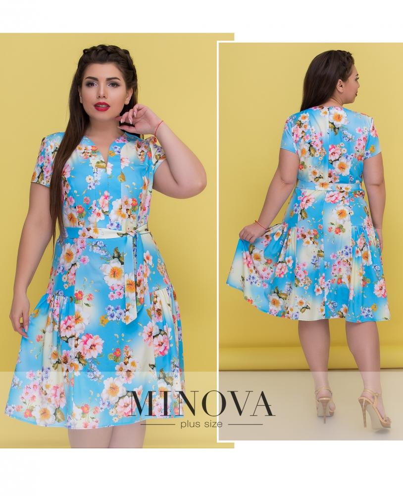 Платье №8-57-голубой