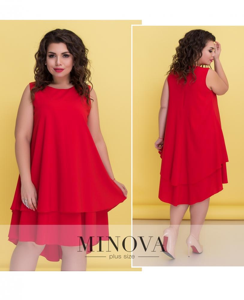 Платье №521-красный