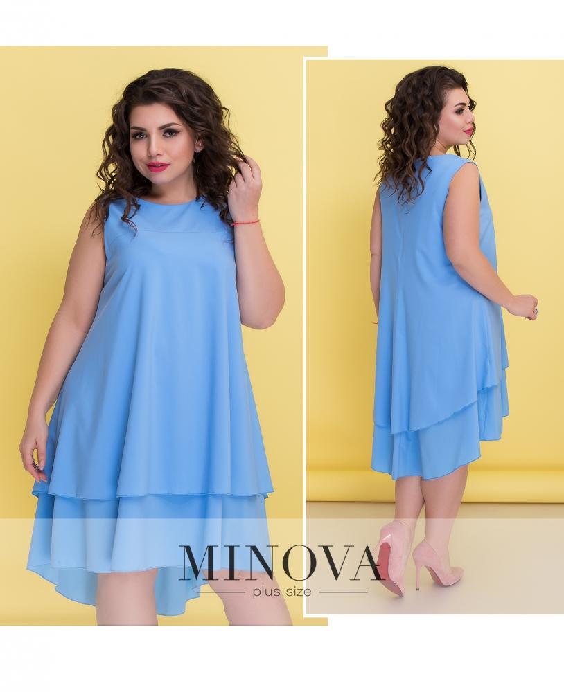 Платье №521-голубой