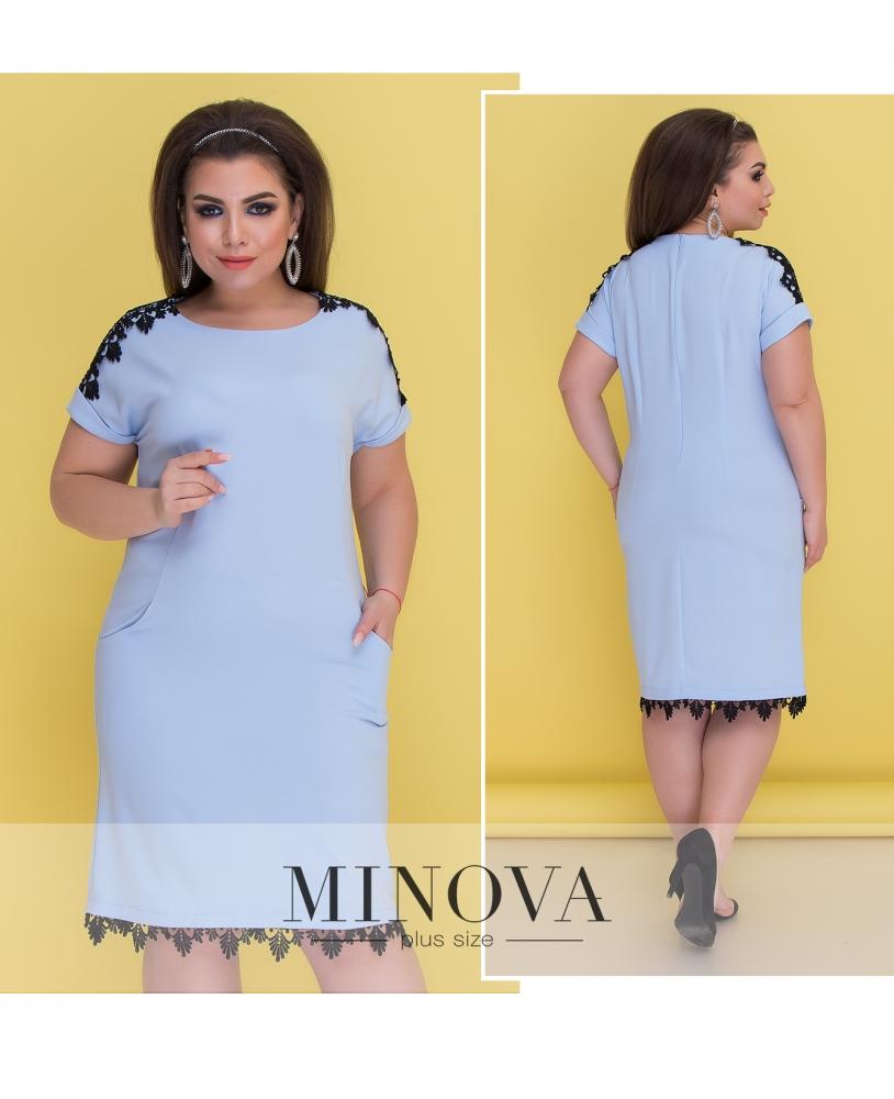 Платье №050-1-голубой