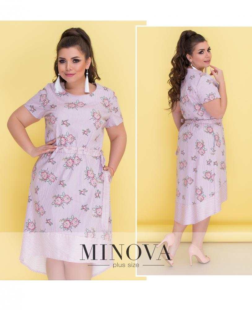 Платье №296-розовый