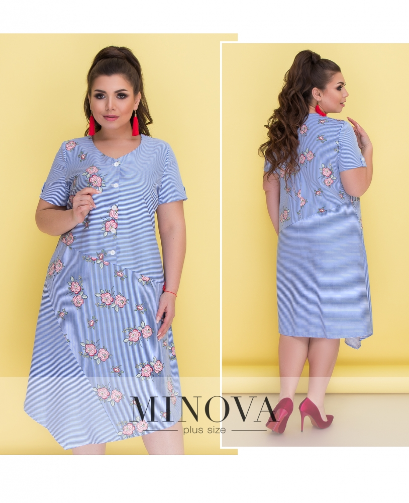Платье №295-голубой