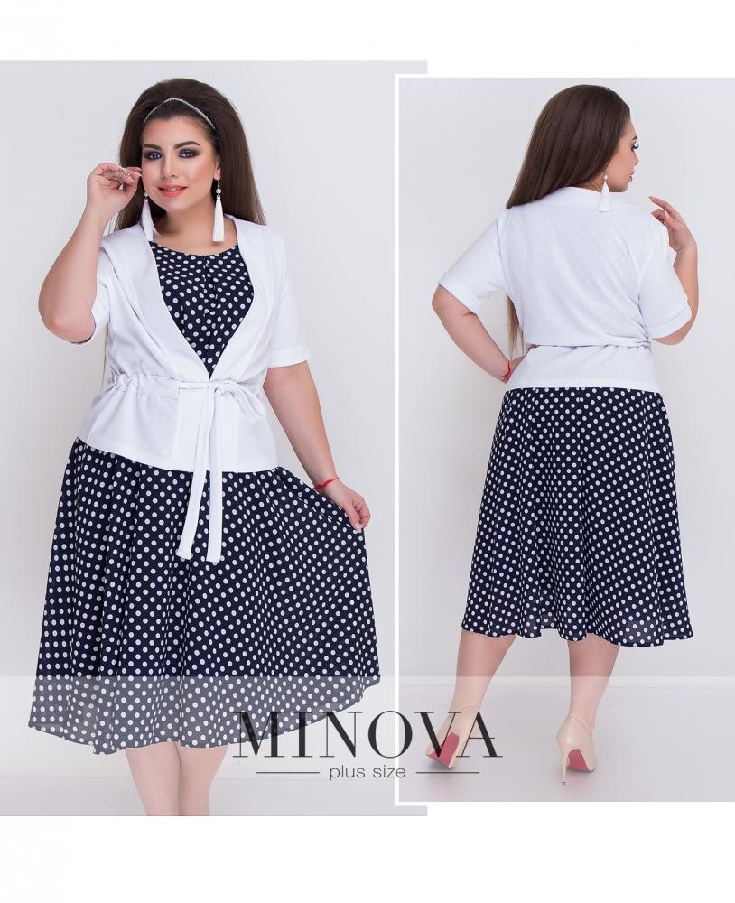 Комплект (Платье+пиджак) №052-белый