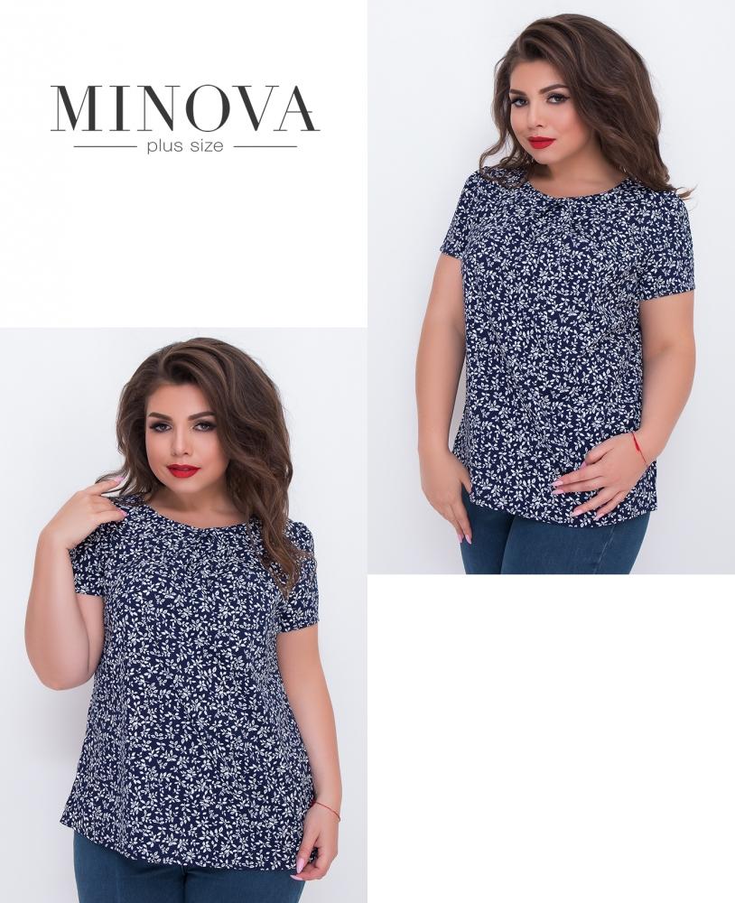 Блуза №3065.12-синий (sale)