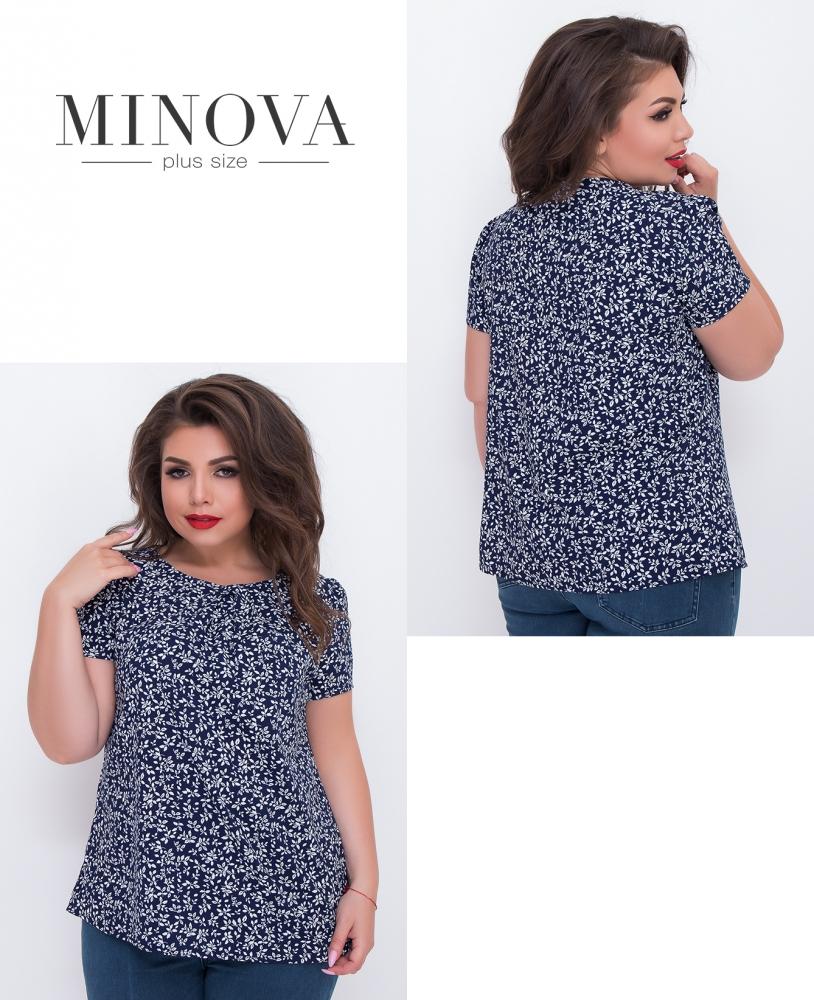 Блуза №3065.12-синий