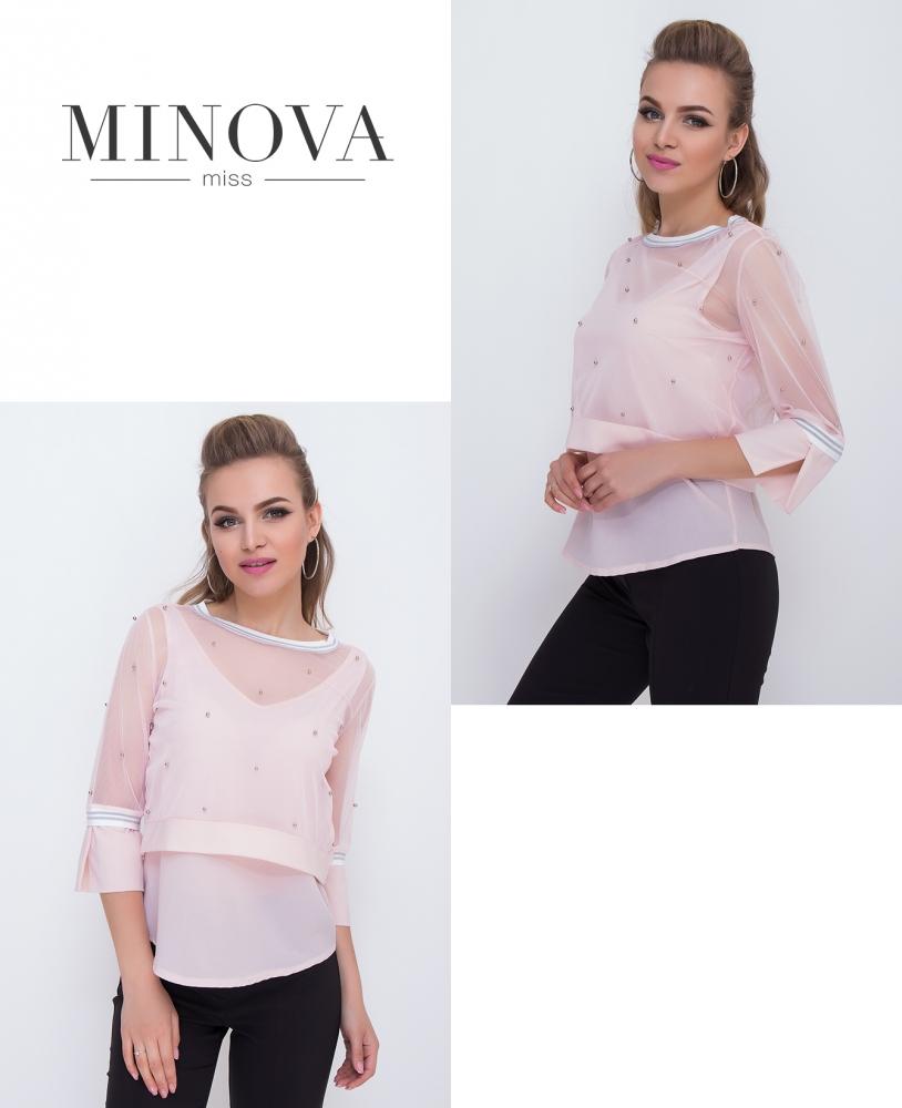 Блуза №1045-пудра (sale)