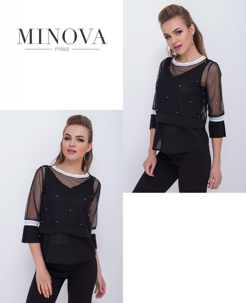 Блуза №1045-черный (sale)