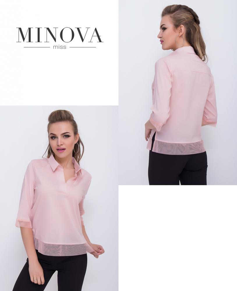Блуза №1097-пудровый