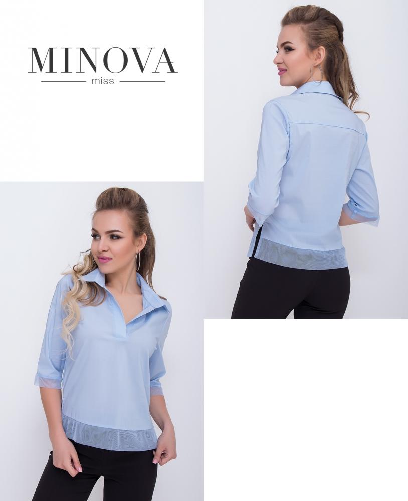 Блуза №1097-голубой