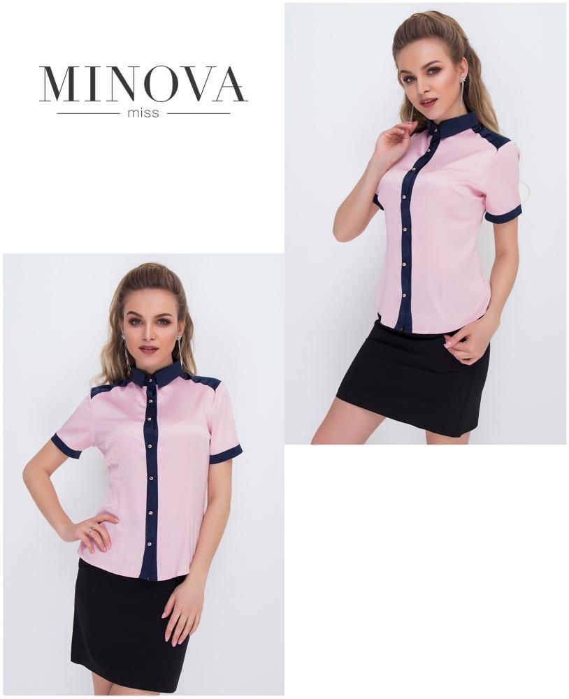 Блуза №1051-розовый (sale)