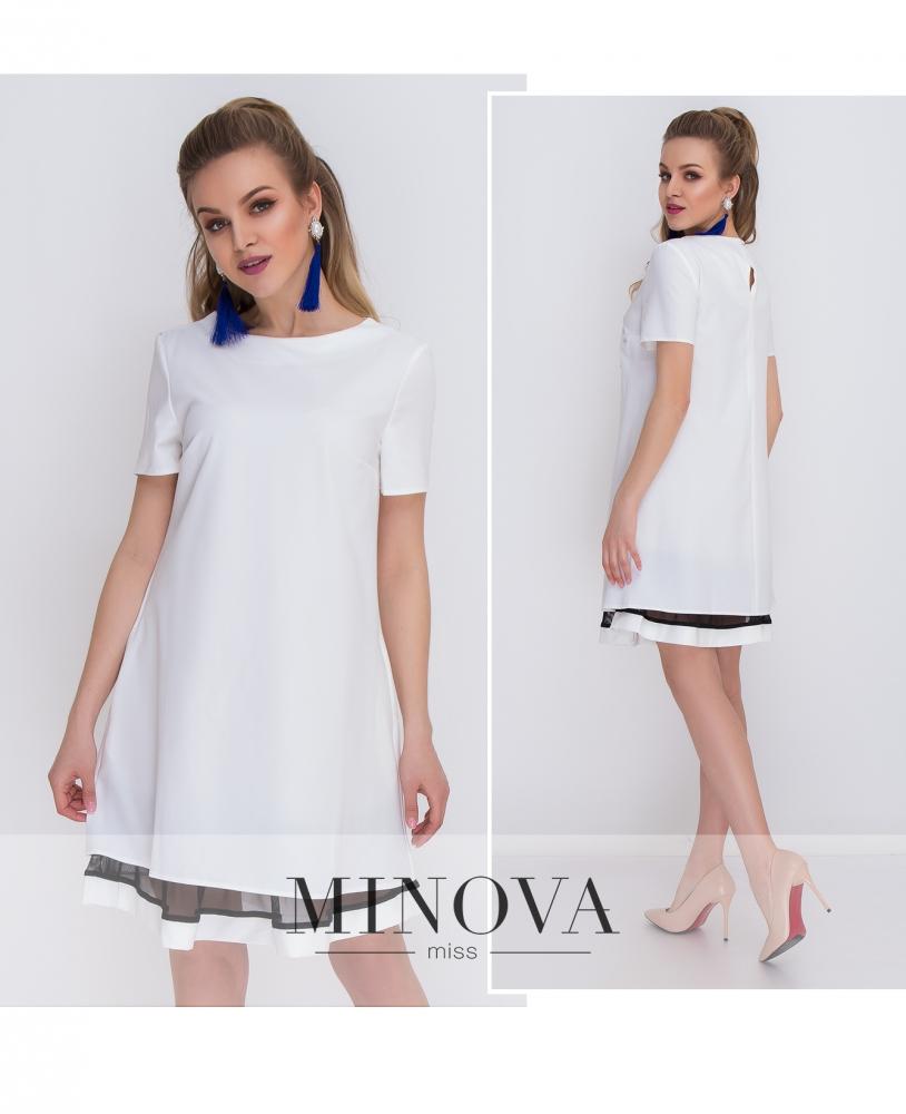 Платье №1034-белый (sale)