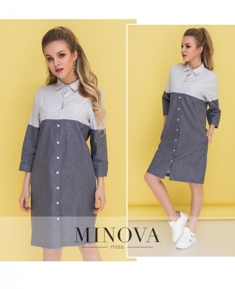 Платье №1038-серый (sale)