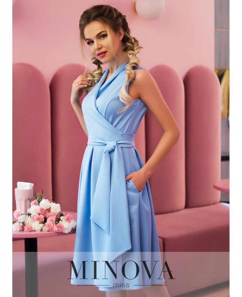 Платье №4069-1-голубой