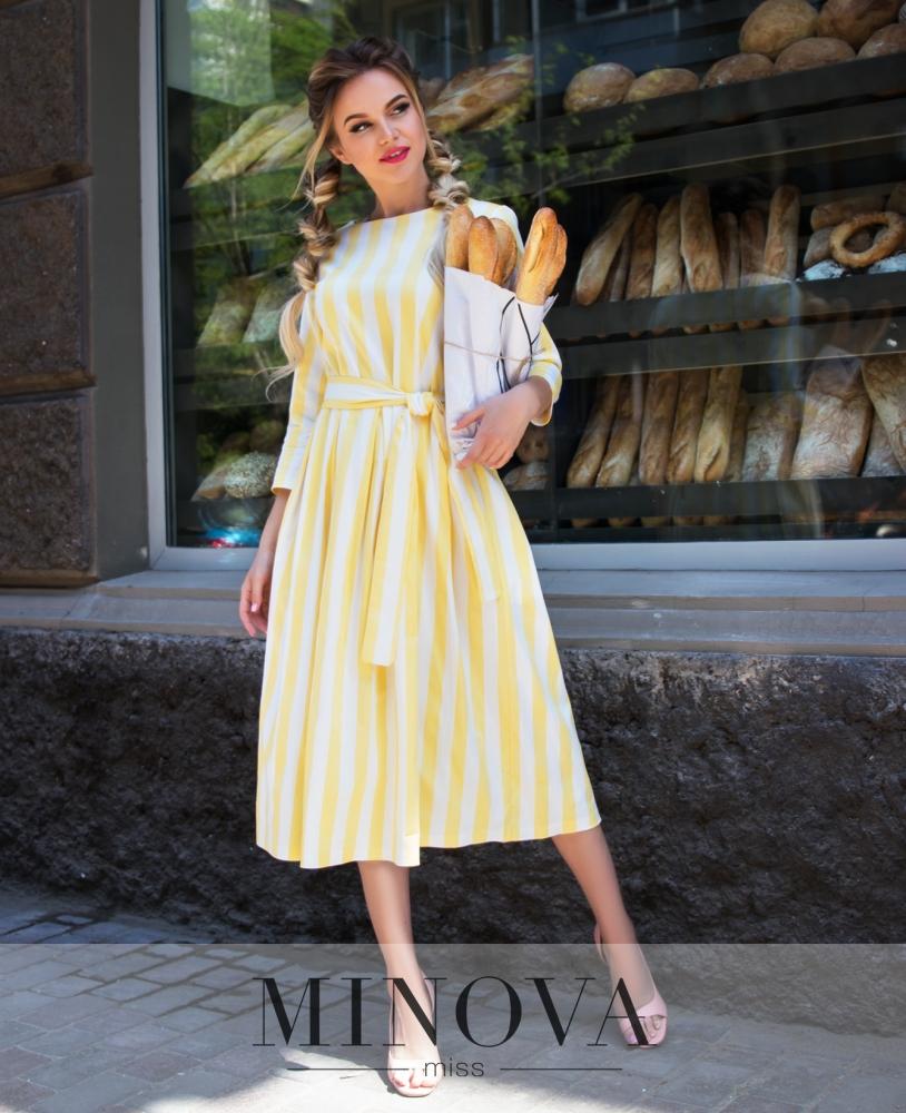 Платье №1075-желтый