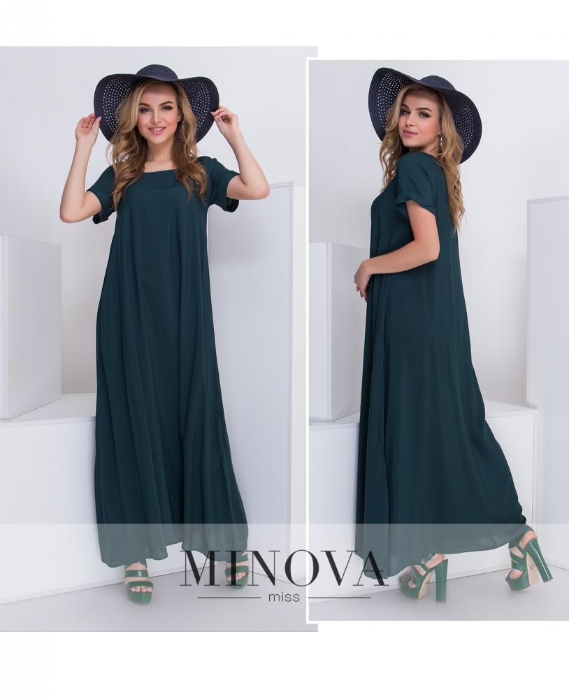 Платье №440-темно-зеленый