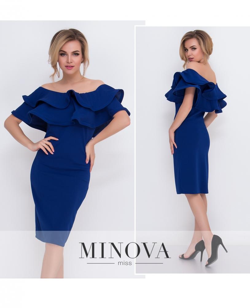 Платье №5095.15-синий