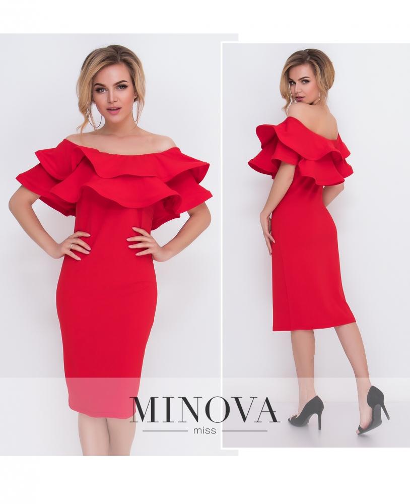 Платье №5095.15-красный