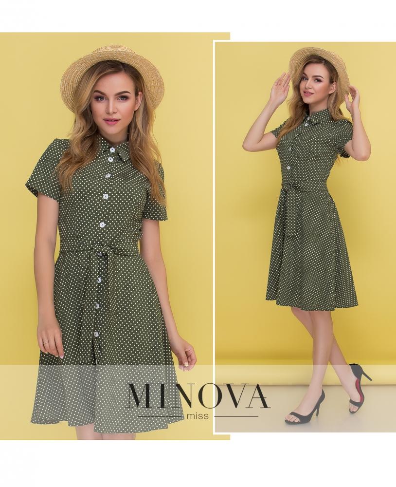 Платье №444-зеленый