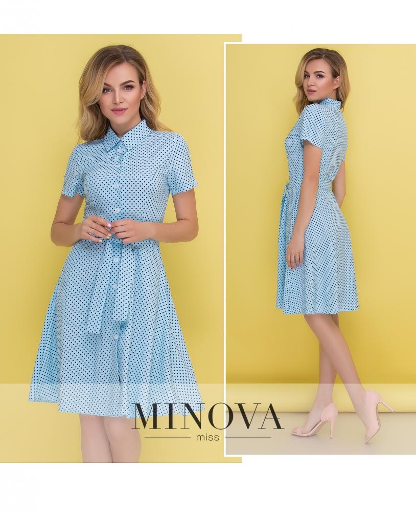 Платье №444-голубой