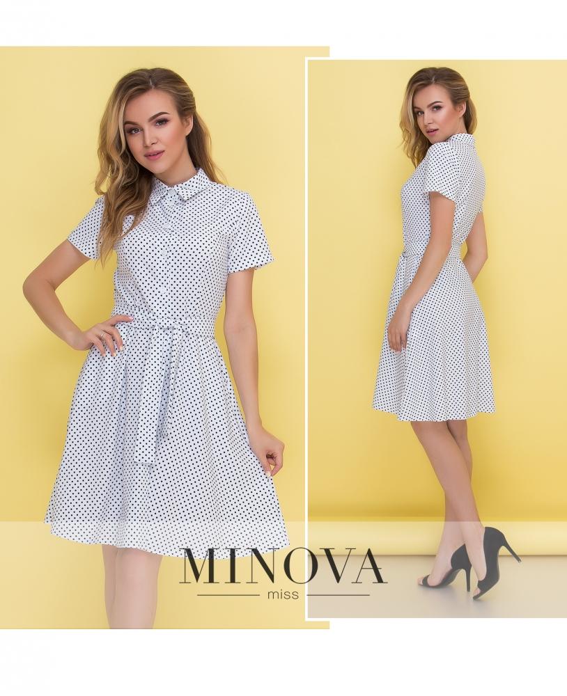 Платье №444-белый