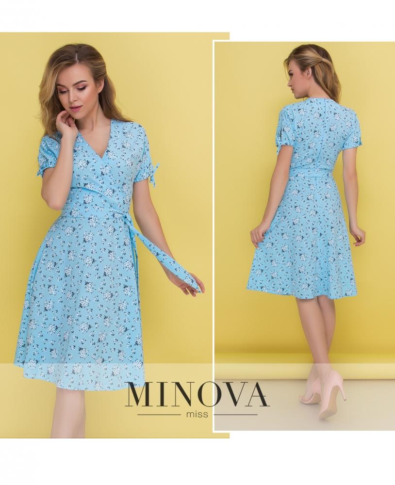 Платье №438-голубой