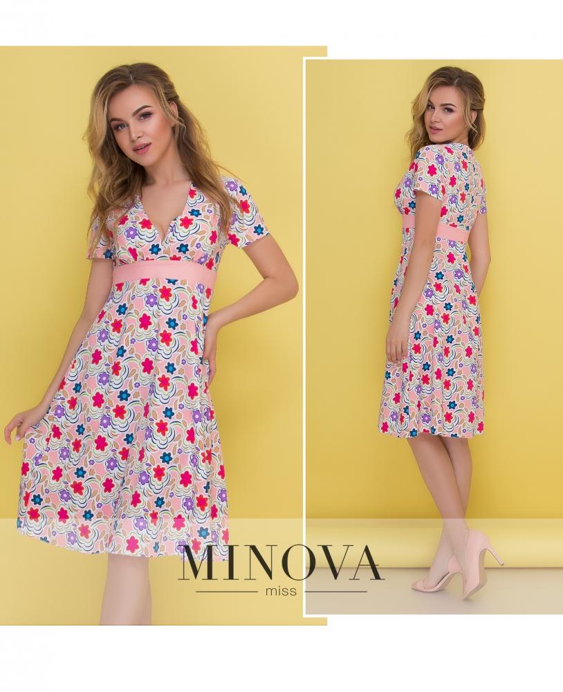 Платье №437-персик (sale)