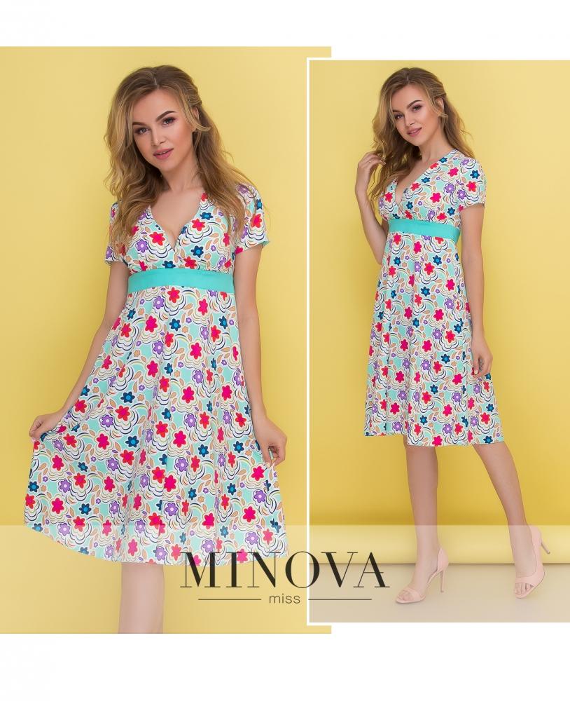 Платье №437-мята (sale)
