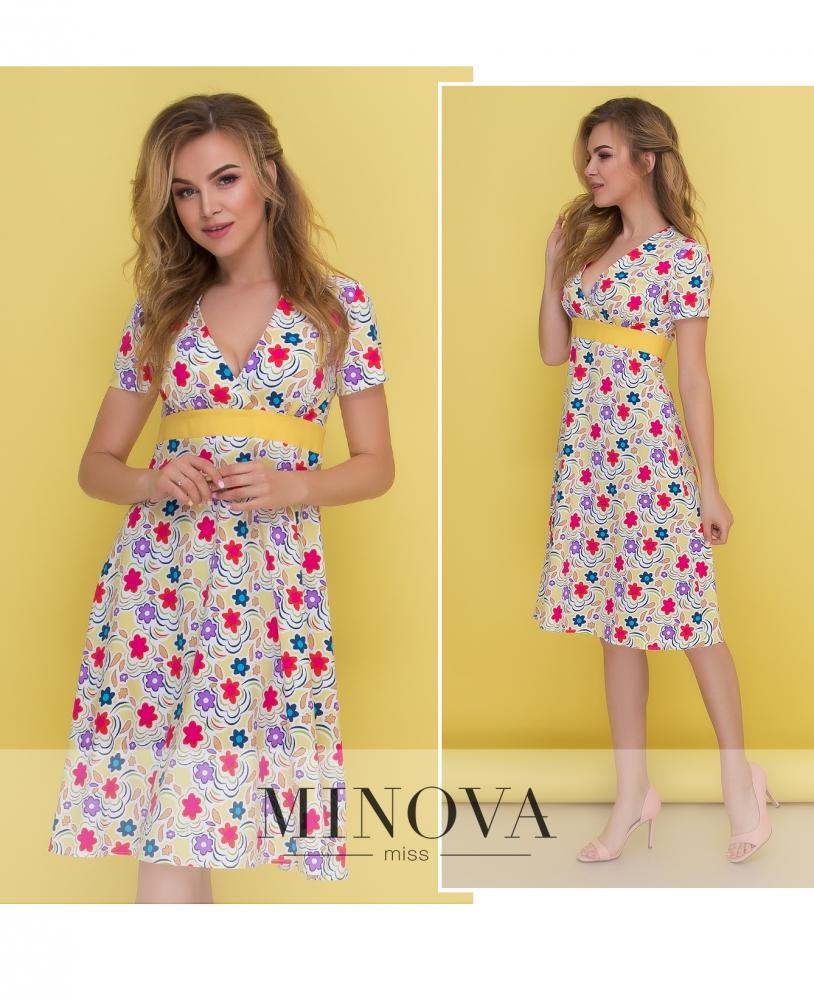 Платье №437-желтый (sale)