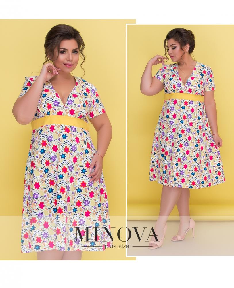 Платье №437А-желтый (sale)