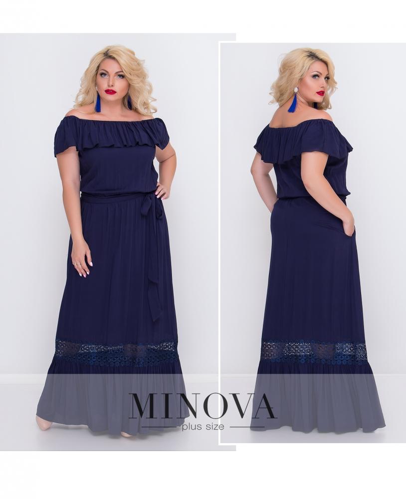 Платье №460-синий