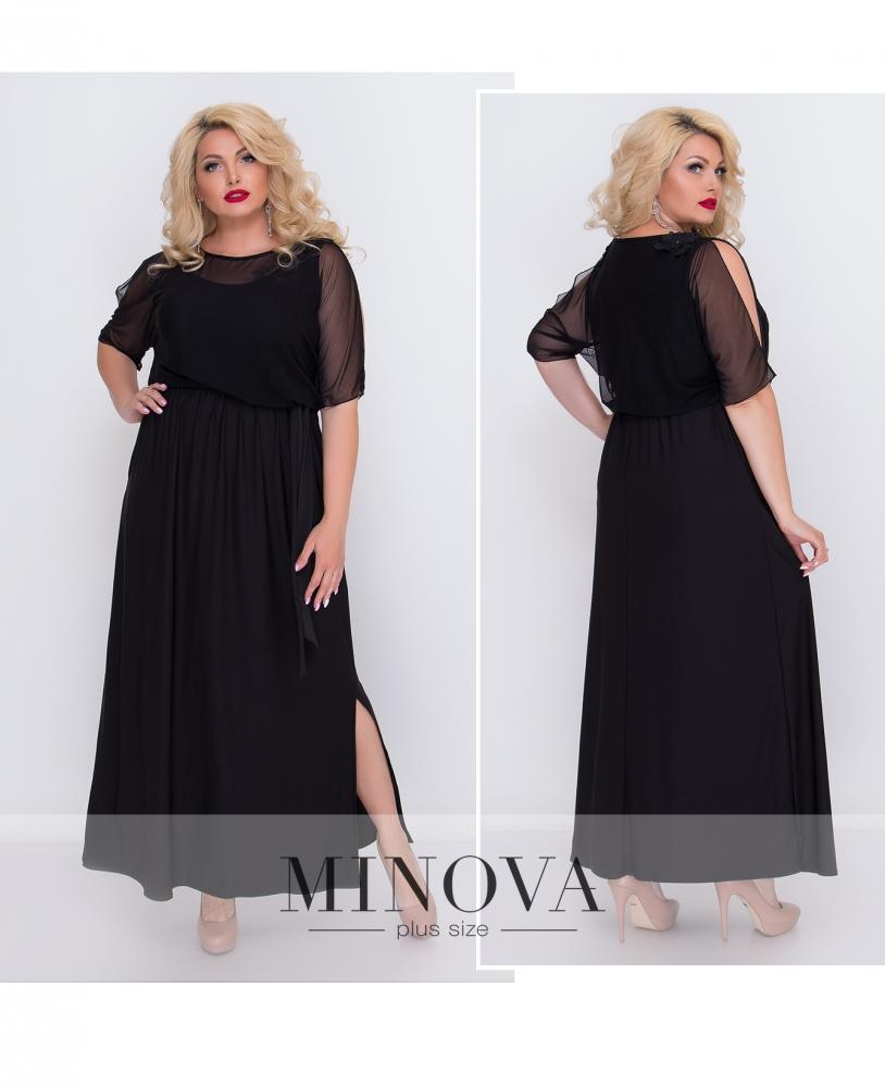 Платье №485-черный