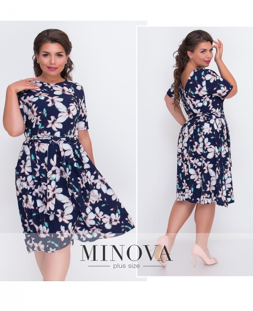 Платье №901-синий