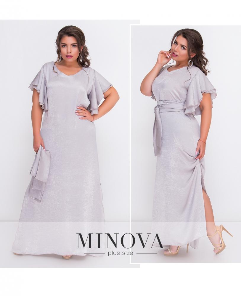 Платье №1405-серый