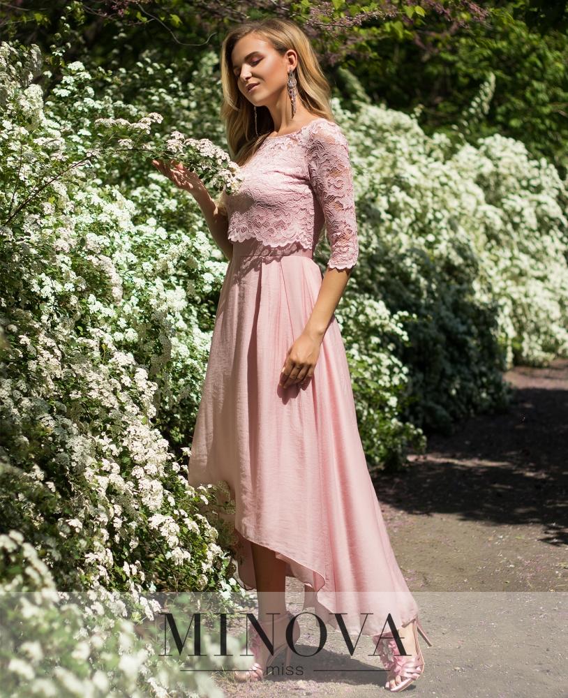 Платье №2104-розовый