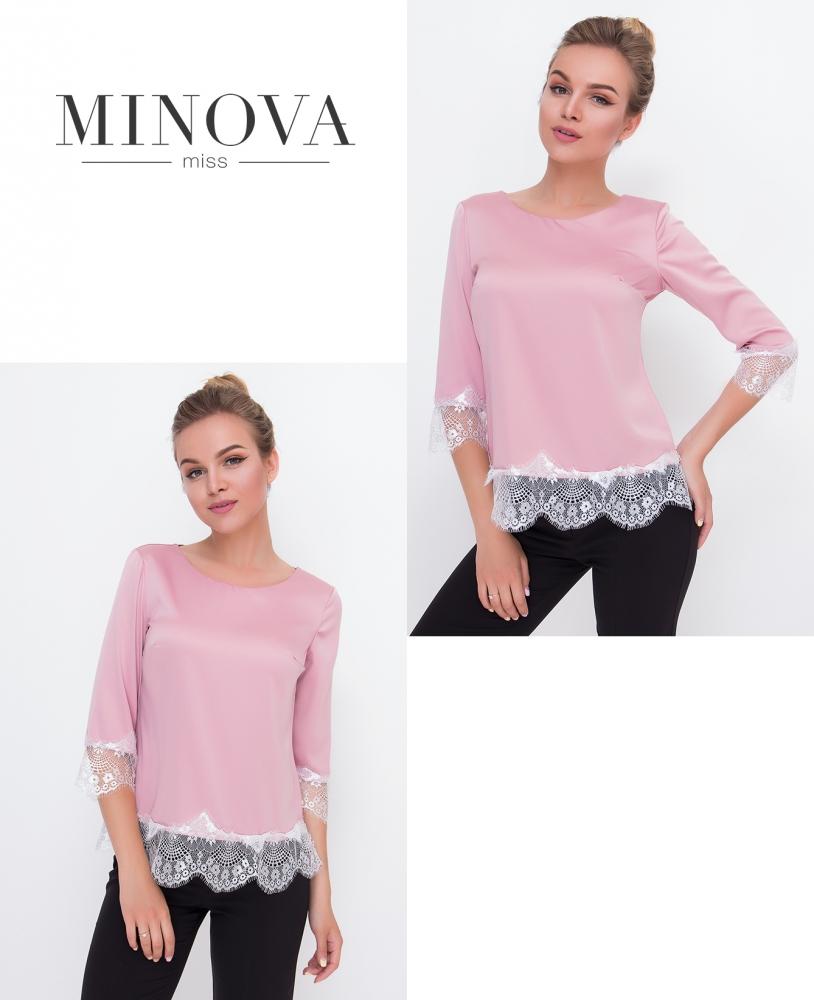 Блуза №1056-пудра