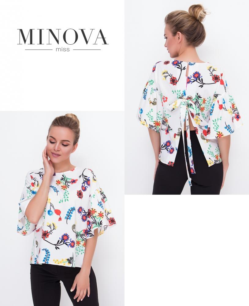 Блуза №445-белый