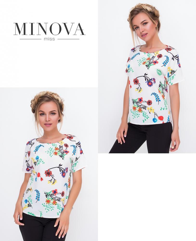 Блуза №438-белый