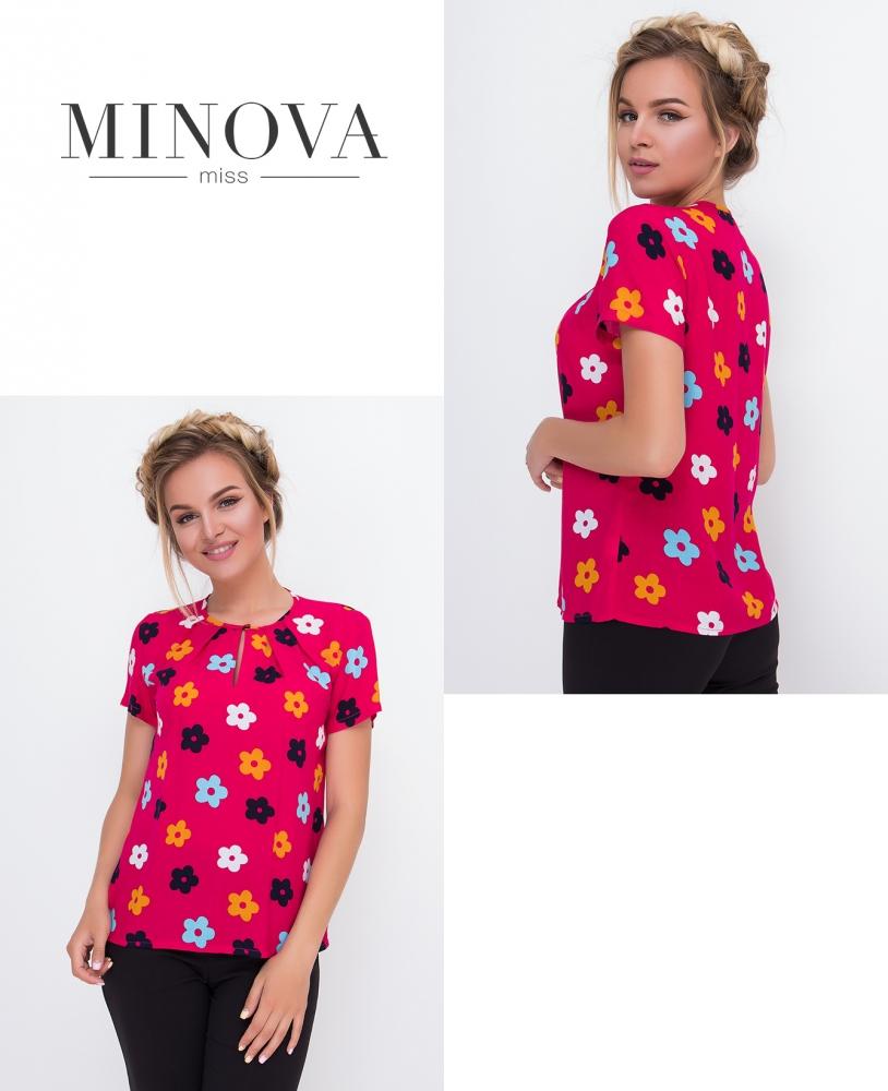 Блуза №437-розовый